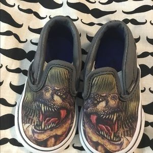 Dinosaur vans size 4 infants